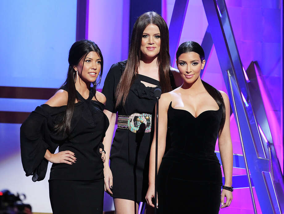 Reality show personalities Khloe, Kourtney and Kim Kardashian appear on-stage during Bravo Network's 2nd Annual A-List Awards at the Orpheum Theatre on April 5, 2009 in Los Angeles, California. Photo: Vince Bucci, Getty Images / 2009 Getty Images