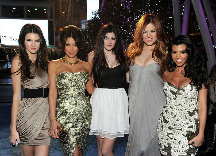 TV personalities Kendall Jenner, Kim Kardashian, Kylie Jenner, Khloe Kardashian and Kourtney Kardashian arrive at the 2011 People's Choice Awards at Nokia Theatre L.A. Live on January 5, 2011 in Los Angeles, California. Photo: Frazer Harrison, Getty Images For PCA / 2011 Getty Images