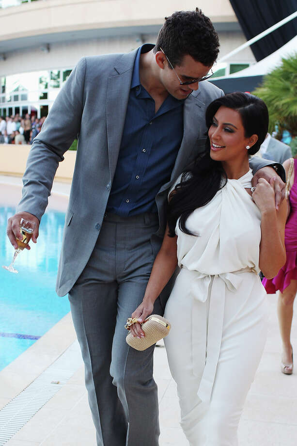 Kim Kardashian and Kris Humphries attend the Amber Fashion Show held at the Meridien Beach Plaza on May 27, 2011 in Monte Carlo, Monaco. Photo: Mark Thompson, Getty Images / 2011 Getty Images