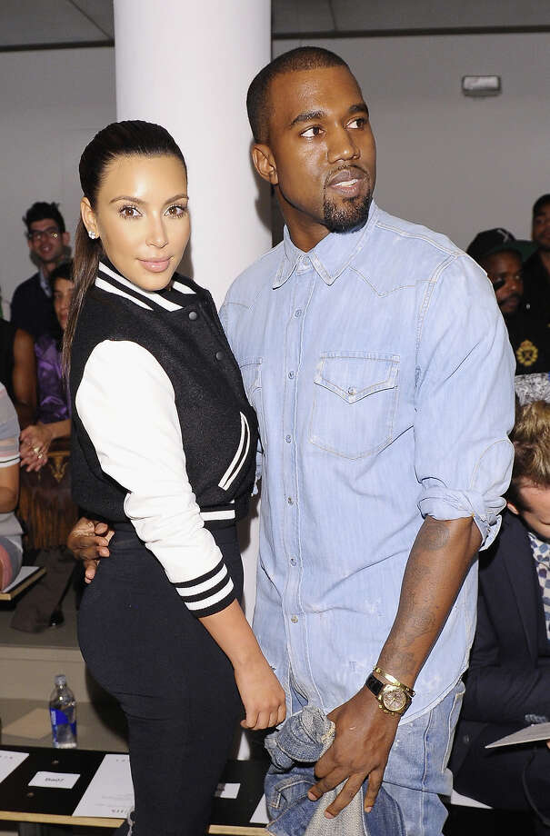 TV Personality Kim Kardashian and Rapper Kanye West attend Louise Goldin Spring 2013 at Milk Studios on September 12, 2012 in New York City. Photo: Michael Loccisano, Getty Images / 2012 Getty Images