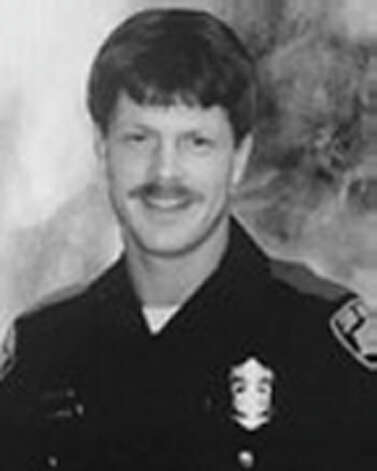 Douglas Goeble, April 20, 1991 Officer Goeble was eating dinner at a restaurant on East Commerce when a man and woman involved in a disturbance entered the establishment. Seeing Officer Goeble, the man shot him in the head, then turned and shot the woman. Both Officer Goeble and the woman died from their wounds. Officer Goeble was 26 years old and had served 2 years on the Department. Photo: SAPD