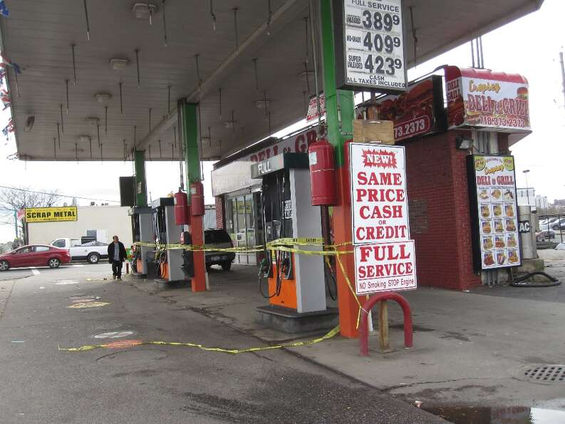 Another Brooklyn gas station had to rope off its pumps due to the gas shortage that affected New Yor
