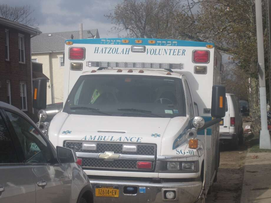 A Hatzhola Volunteer Ambulance station was parked in Sea Gate, Brooklyn on Nov. 1. Residents of Sea Gate without power and heat often stopped by to grab a bite to eat before returning to their homes to deal with the damage inflicted by Superstorm Sandy.