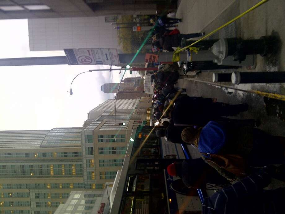 At times, the lines for shuttle bus spanned the length of few blocks and wait times were hours long.