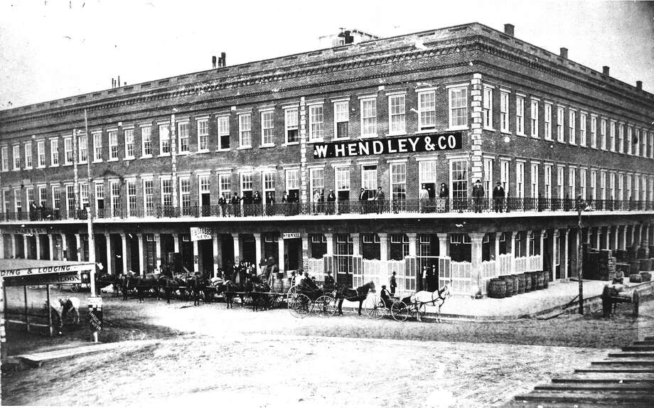 The building was erected between 1855 by 1860 by shipping magnates William and Joseph Hendley and other  businessmen.  Photo: Brett Coomer, Rosenberg Library / Rosenberg Library