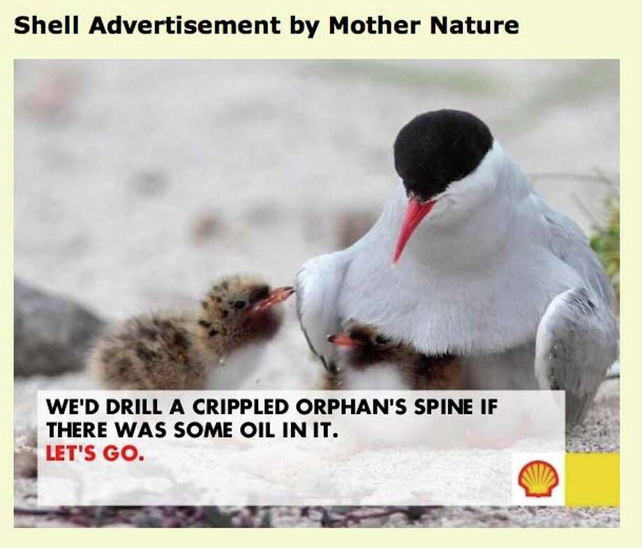 Greenpeace has been inviting supporters to create fake Shell Oil advertisements as the oil company steps closer to drilling in the Arctic.