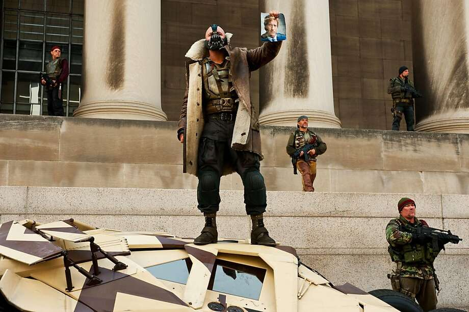 "A scene from the movie ""The Dark Night Rises."" Photo: Ron Phillips, Associated Press"