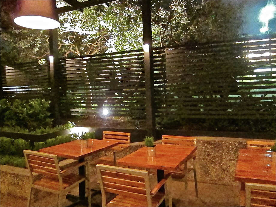 The outdoor dining terrace at Provisions.