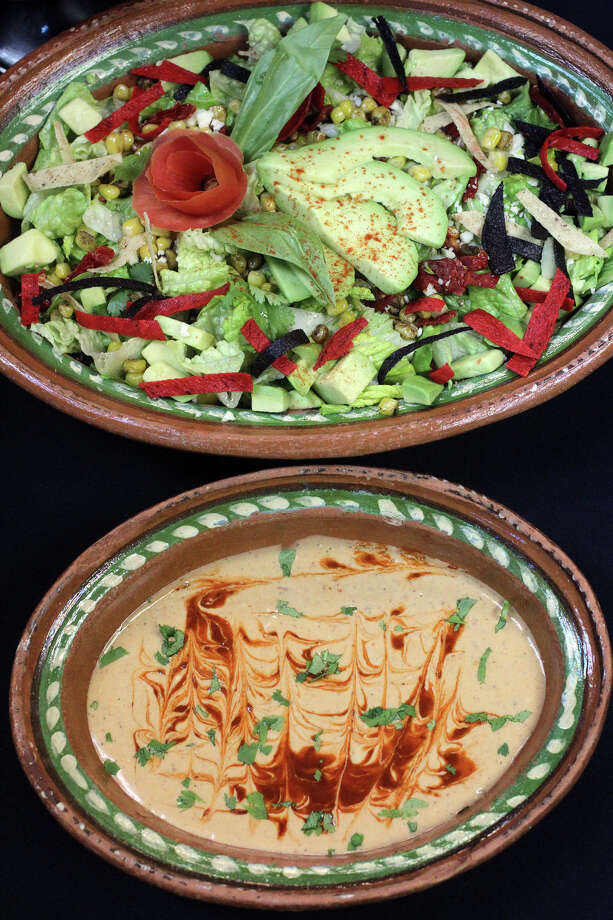 This is the Southwest Caesar Dressing (bottom) from Fresh Horizons catering. Photo: JOHN DAVENPORT, San Antonio Express-News / ©San Antonio Express-News/Photo Can Be Sold to the Public