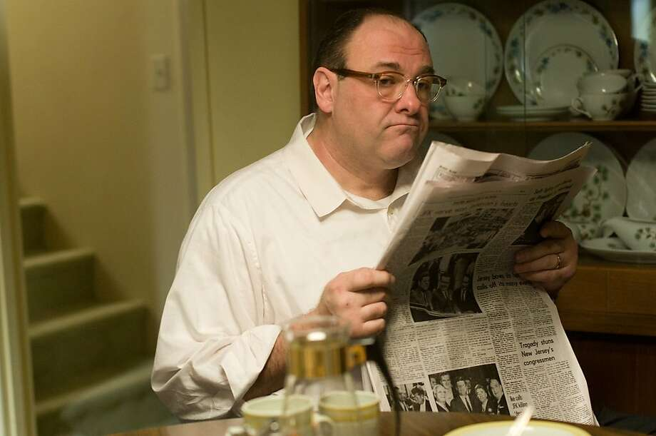 "James Gandolfini as a dad in ""Not Fade Away,"" above, and a gangster in ""Killing Them Softly,"" below. Photo: Paramount Vantage, Associated Press"