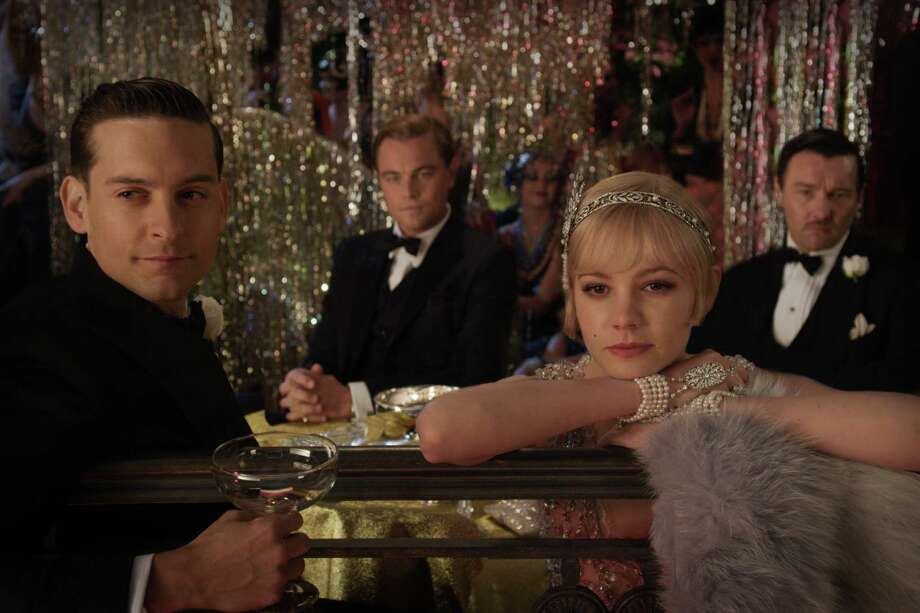 """Tobey Maguire, from left, as Nick Carraway, Leonardo DiCaprio as Jay Gatsby, Carey Mulligan as Daisy Buchanan and Joel Edgerton as Tom Buchanan are jazzed up about """"The Great Gatsby."""" Photo: Courtesy Of Warner Bros. Picture"""