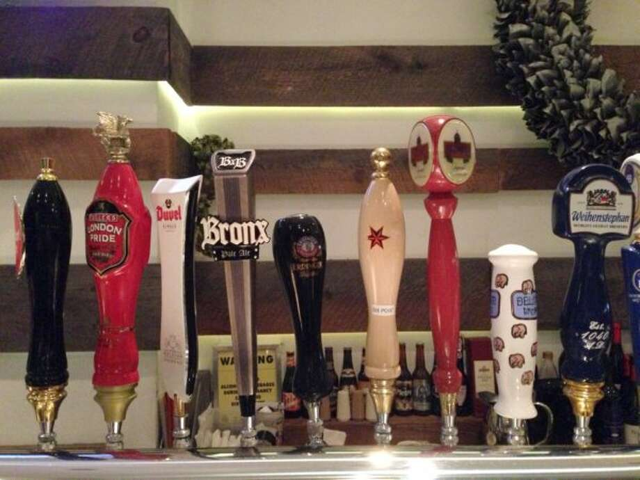 The taps at Bier are mostly reserved for German and Belgian brews, although we did sample some NYC-made fare. (Ronnie Crocker / Beer, TX)
