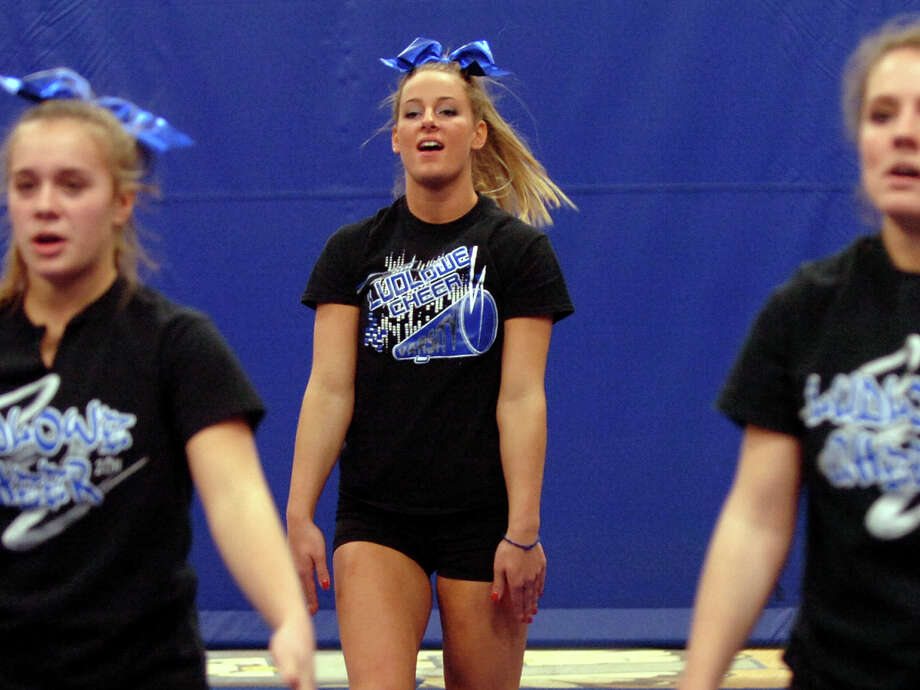 Fairfield Ludlowe cheerleading captain Alley Meyer, during cheerleading practice in Fairfield, Conn. on Wednesday December 19, 2012. Photo: Christian Abraham / Connecticut Post