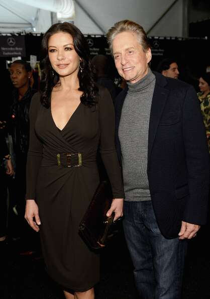 Catherine Zeta-Jones, 43, and husband Michael Douglas, 68.