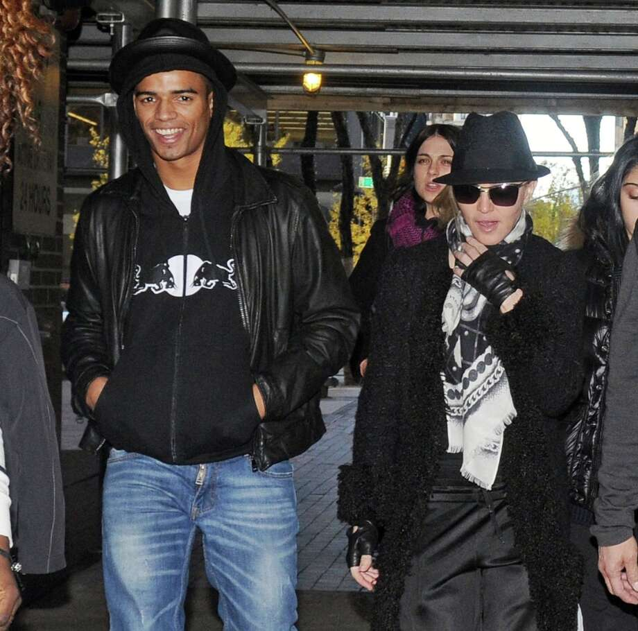 Madonna, 54, (right) and boyfriend Brahim Zaibat, 25, at a Kabbalah service in New York City in 2011. Zaibat reportedly proposed to the pop megastar in 2012. Photo: Arnaldo Magnani, Getty Images / 2011 Amaldo Magnani