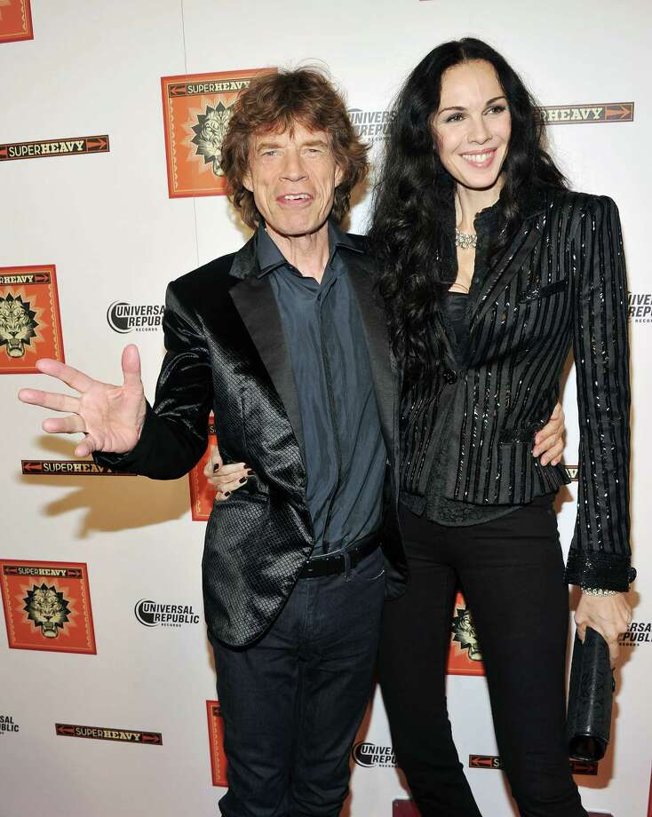 Mick Jagger, 69, with designer girlfriend L'Wren Scott, 46.  Photo: Stephen Lovekin, Getty Images / 2011 Getty Images