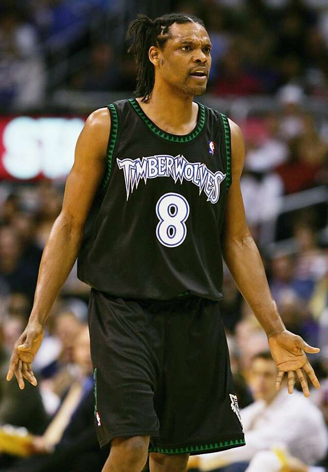 FILE - JANUARY 1: It was reported on January 1, 2013 that former NBA star Latrell Sprewell was arrested on December 31, 2012 for disorderly conduct after police received reports of loud music coming from a house in Milwaukee, Wisconsin. LOS ANGELES - MARCH 31:  Latrell Sprewell #8 of the Minnesota Timberwolves looks on during a break in action against the Los Angeles Lakers on March 31, 2005 at Staples Center in Los Angeles, California. NOTE TO USER: User expressly acknowledges and agrees that, by downloading and or using this photograph, User is consenting to the terms and conditions of the Getty Images License Agreement.  (Photo by Lisa Blumenfeld/Getty Images) Photo: Lisa Blumenfeld, Getty Images