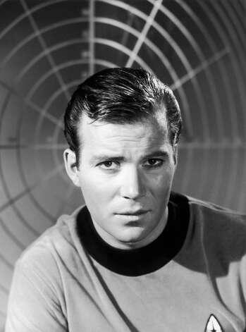 circa 1967: Canadian-born actor William Shatner wears a starship uniform as Captain James T Kirk in a promotional portrait for the science fiction television series, 'Star Trek'. Photo: Hulton Archive, Getty Images / Hulton Archive