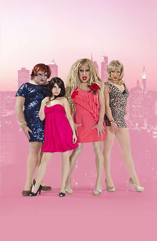 """""""Sex and the City: Live!"""" stars Lady Bear as Miranda, Trixxie Carr as Charlotte, Heklina as Carrie and D'Arcy Drollinger as Samantha. Photo: Kent Taylor"""