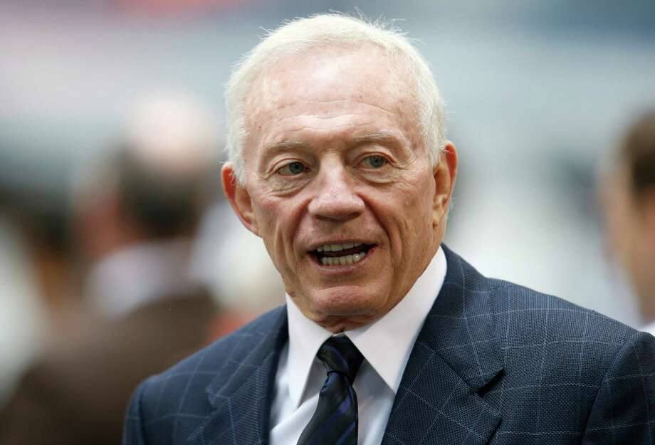 Dallas Cowboys Owner Jerry Jones before an NFL football game against the Cleveland Browns Sunday, Nov. 18, 2012 in Arlington, Texas. (AP Photo/Sharon Ellman) Photo: Sharon Ellman, FRE / FR170032 AP
