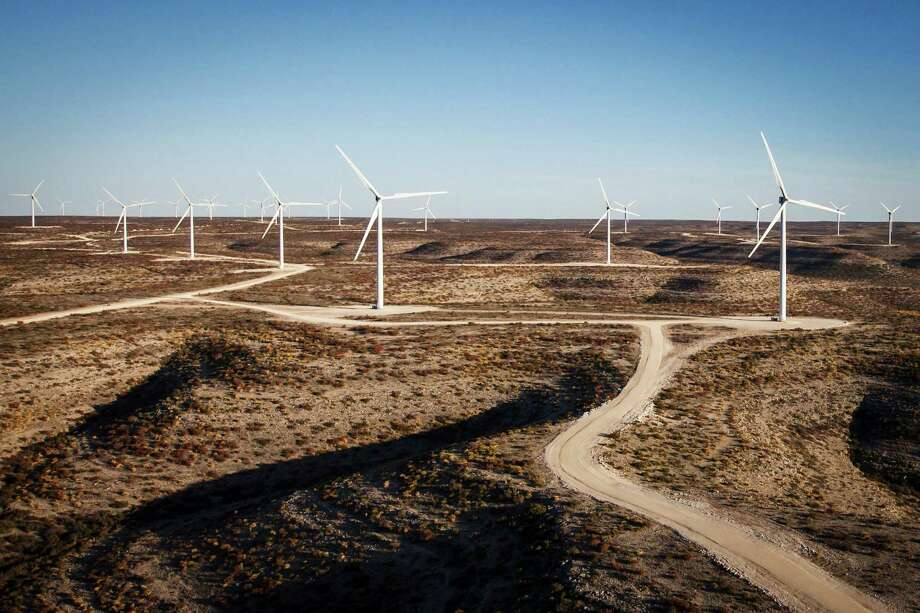 Turbines dot the landscape at BP's Sherbino Mesa II wind farm in Fort Stockton. The federal wind production tax credit provides a 2.2 cent break for every kilowatt-hour of energy produced during the first 10 years. Photo: Michael Paulsen, Staff / © 2012 Houston Chronicle