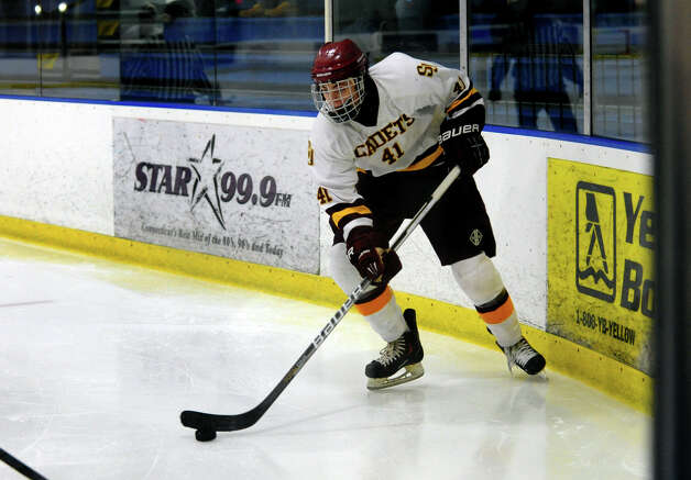 St. Joseph's #41 Colin Powell, during boys hockey action against South Windsor at The Rinks in Shelton, Conn. on Wednesday January 2, 2012. Photo: Christian Abraham / Connecticut Post