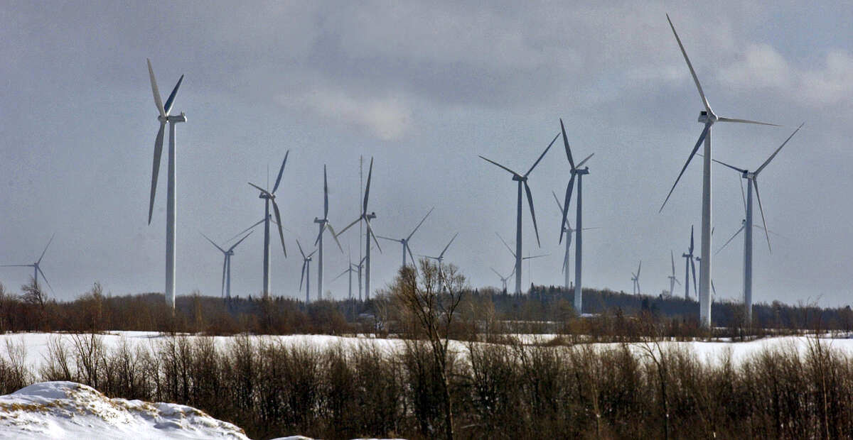 Wind turbine towers at the Maple Ridge Wind Farm in Lowville, N.Y., on Thursday December 8, 2005.