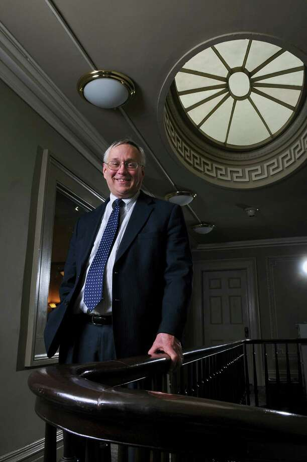 Robert Lowry, Deputy Director of the New York State Council of School Superintendents, in a hallway outside of his office on Wednesday April 13, 2011 in Albany, NY. (Philip Kamrass/ Times Union ) Photo: Philip Kamrass / 00012759A