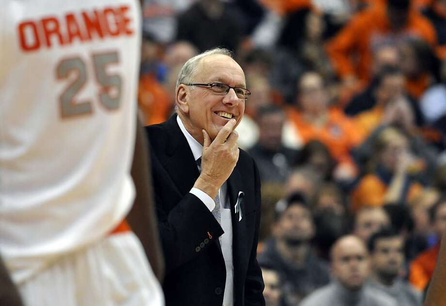 Jim Boeheim, in his 37th season at Syracuse, trails only Duke's Mike Krzyzewski (940 wins). Photo: Kevin Rivoli, Associated Press