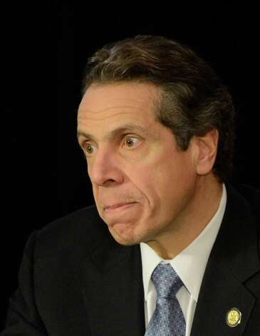 Governor Andrew Cuomo looks pensive during a cabinet meeting in the State Capitol in Albany, N.Y. Jan 2, 2013.(Skip Dickstein/Times Union) Photo: SKIP DICKSTEIN / 00020630A