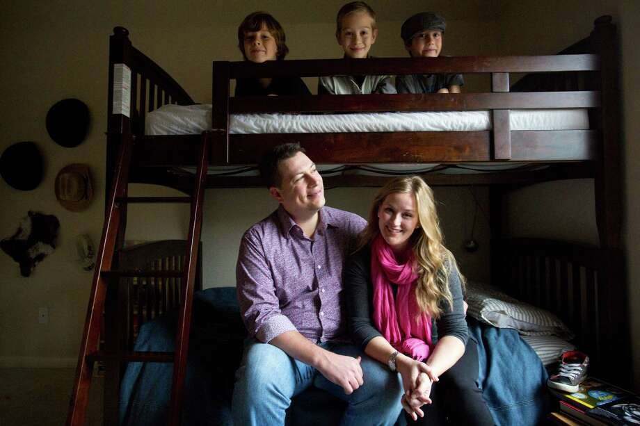 The Andersons - Phil and Aimée and their sons Isaiah, top left, Nathanael and Gabriel, in cap - were all smiles about making an orphaned 9-year-old Russian girl part of their family. Then, suddenly, politics changed everything. Photo: Eric Kayne / © 2012 Eric Kayne