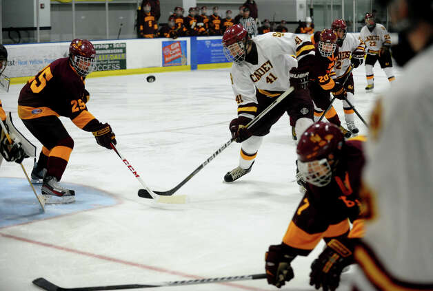 Boys hockey action between St. Joseph and South Windsor at The Rinks in Shelton, Conn. on Wednesday January 2, 2012. Photo: Christian Abraham / Connecticut Post