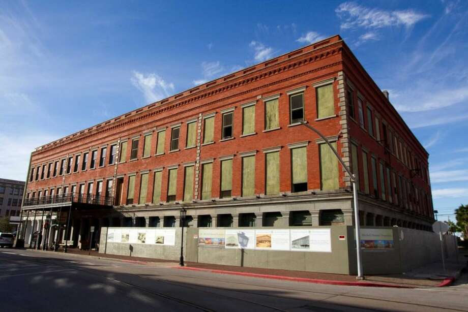 The exterior of the Hendley Building is shown in Galveston. Mitchell  Historic Properties is restoring the structure located at Strand and 20th. At HoustonChronicle.com: Developers face unique challenges restoring one of Texas' most endangered historic buildings.