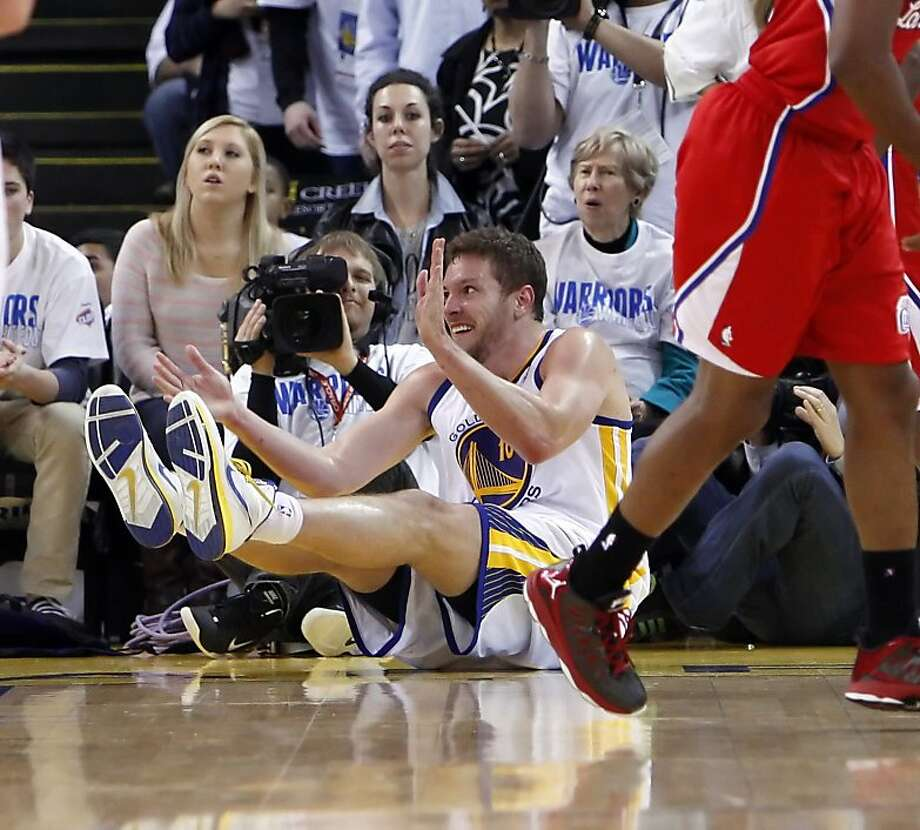 David Lee claps after a foul is called on Blake Griffin in the fourth quarter of the game. The Warriors played the Los Angeles Clippers at Oracle Arena in Oakland, Calif., on Wednesday, January 2, 2013. Photo: Carlos Avila Gonzalez, The Chronicle