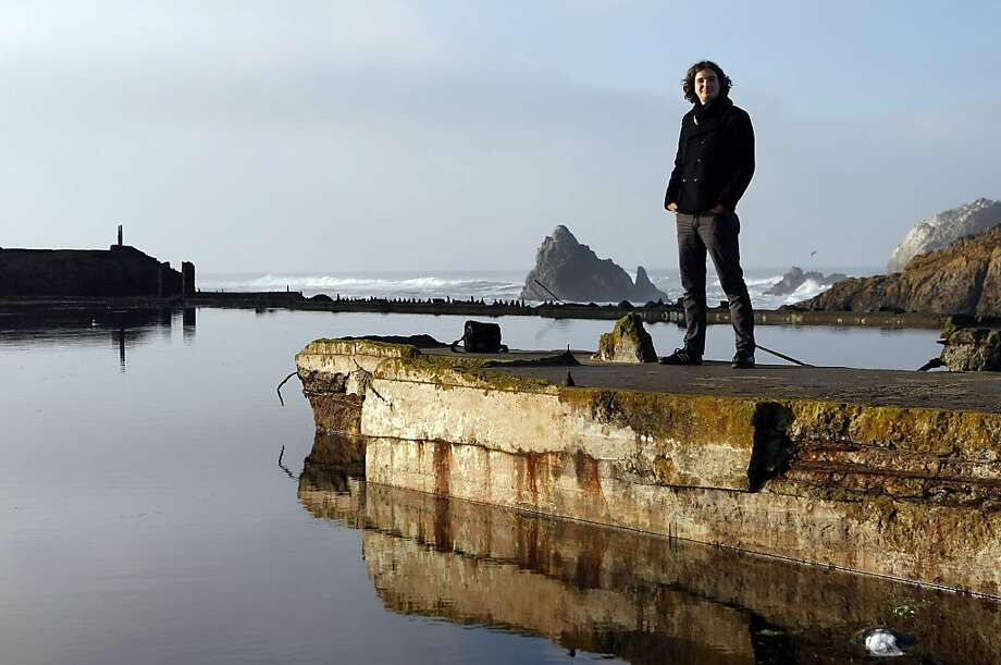 """Jouko Van Der Kruijssen, who is a volunteer with The River Otter Ecology Project and regularly photographs the otter named """"Sutro Sam"""" at the Sutro Baths on December 30, 2012 in San Francisco, Calif. Van Der Kruijssen has been monitoring Sutro Sam's activity since the the otter arrived sometime in October. Photo: Sean Havey, The Chronicle"""