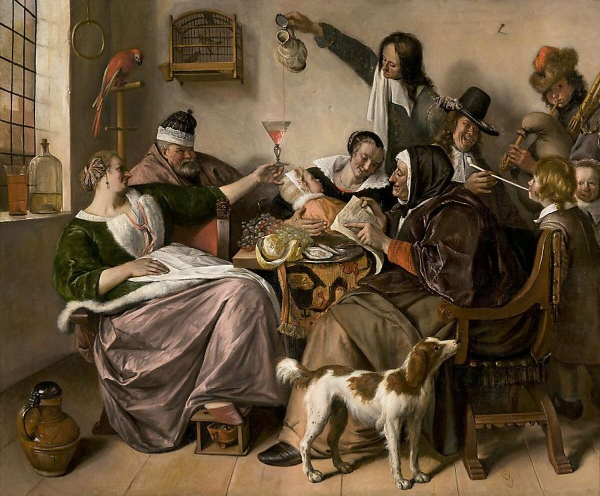 Jan Steen (Leiden 1626-1679 Leiden) As the Old Sing, So Twitter the Young, ca. 1668-1670 Oil on canvas, 523⁄4 x 641⁄8 in. (134 x 163 cm) Royal Picture Gallery Mauritshuis, The Hague Acquired in 1913 with the support of the Rembrandt Society (inv. no. 742) Image courtesy of the Royal Picture Gallery Mauritshuis, The Hague