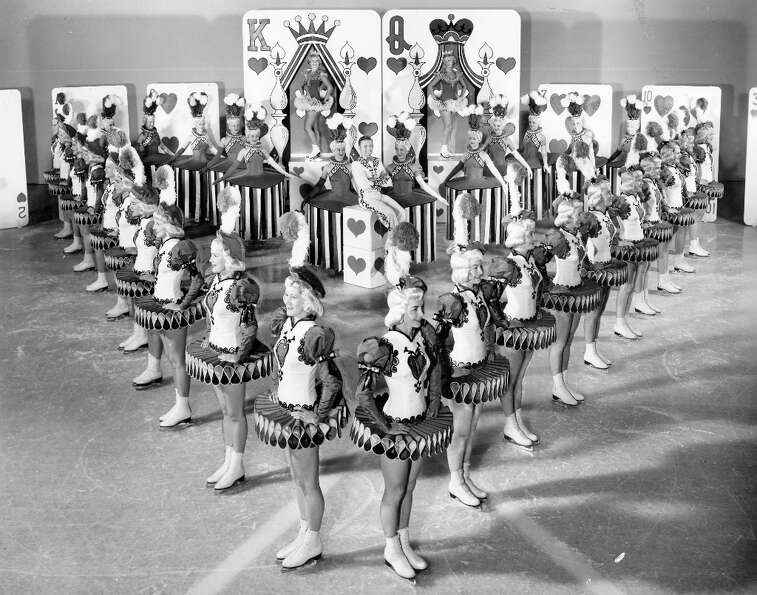 The Ice Follies in 1953, with a Family of Hearts theme. This was my favorite of the group shots in t