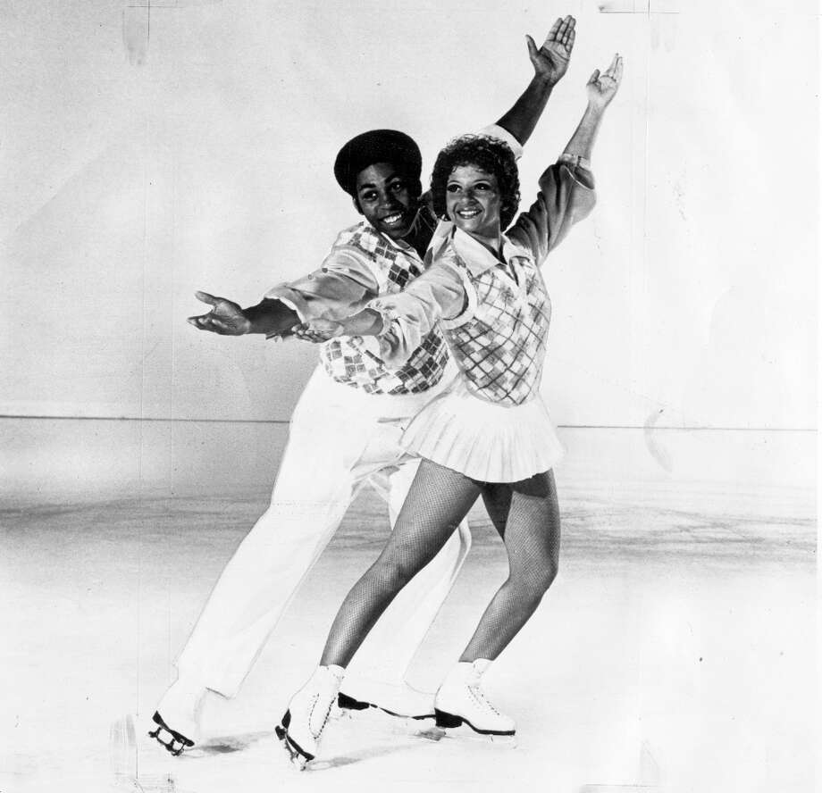 I had looked at about 100 photos, thinking did these ice shows hire anyone of color? when I found this photo of Richard Ewell and Michelle McCladdie. The skating duo, who were 1972 U.S. Junior National Skating champions, joined the Ice Capades in 1974. Photo: Courtesy Ice Capades / ONLINE_YES
