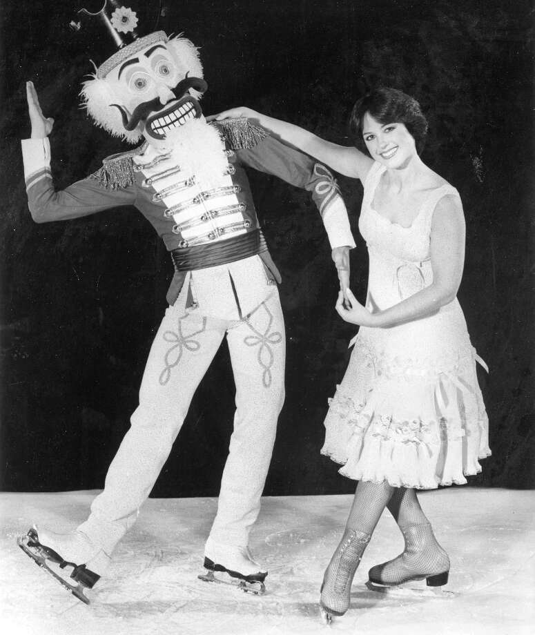 Dorothy Hamill in a 1982 promotional still for The Nutcracker: A Fantasy on Ice. This was six years after her Olympics gold, when 85 percent of the female population (and 15 percent of the males) had adopted her haircut. (Chronicle file) Photo: Gary Johnson / ONLINE_YES