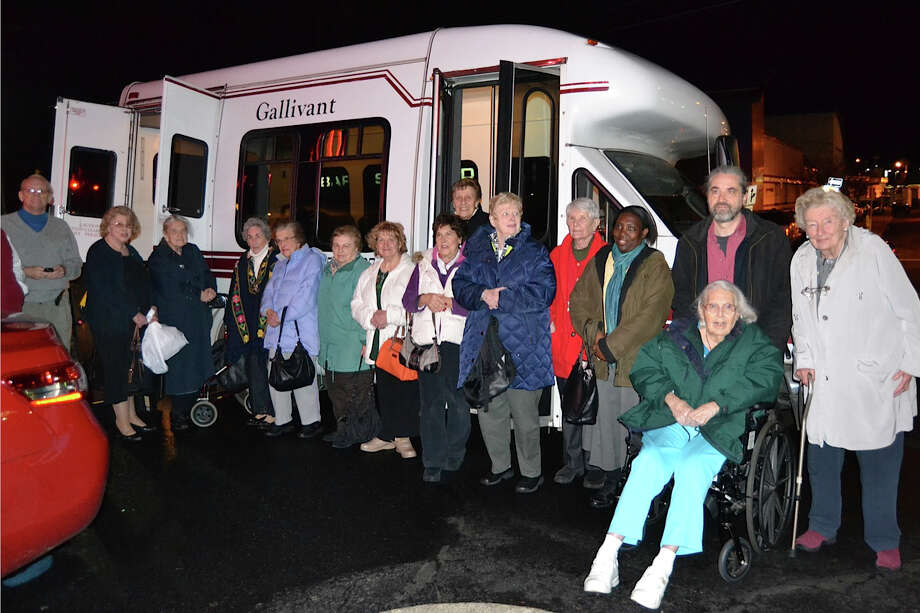 Aging in Place+Gallivant hosted Darien seniors on a tour of holiday lights in Greenwich last month. Photo: Contributed Photo