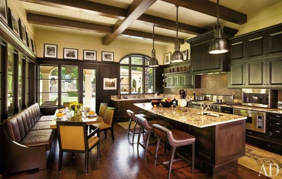A kitchen to comfort Lance Armstrong, who no doubt needs a lot of chicken soup for the soul these days. Photo via Yossawat Interior Design Ideas and Architectural Digest.