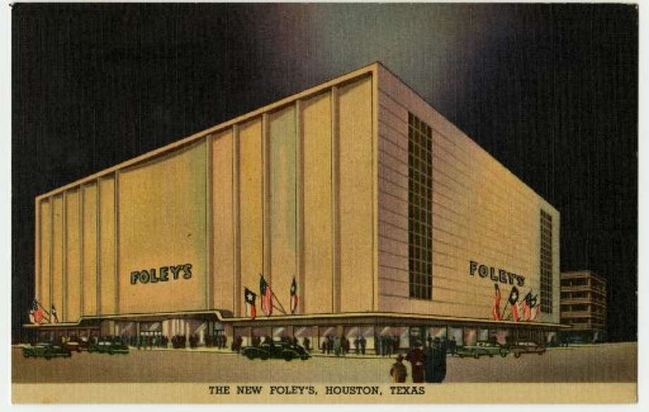 The back of this vintage postcard reads: The country's most modern Department Store, covers a Block and a Half in the Heart of Houston's Business District, at Main and Lamar. The Main Building, Six and a Half Stories and Basement, is connected by Tunnel with a Five-Story Service and Garage Building in the rear. (Houston Chronicle file)