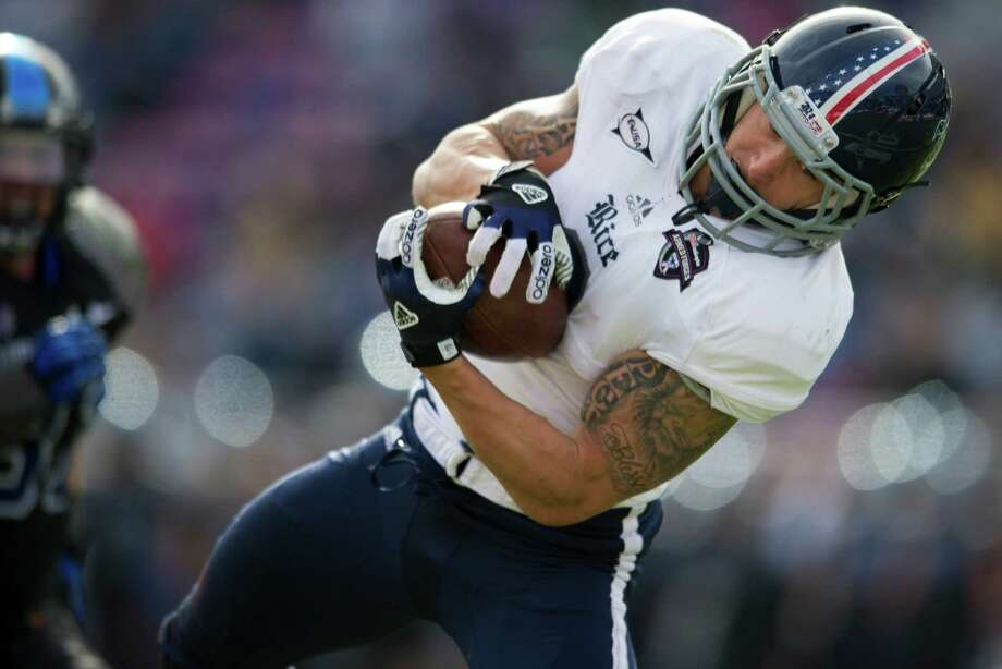 Sam McGuffie - RiceThe senior's last game as an Owl was a 33-14 win over Air Force in the Bell Helicopter Armed Forces Bowl. After graduating from Cy-Fair, he played at Michigan for a season then transferred to Rice. Photo: Cooper Neill, Getty Images / 2012 Getty Images