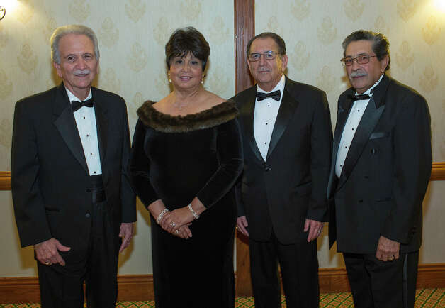 Paricutin Civic and Educational Foundation New Year's Eve Gala: Vice  President Gabriel Garza (from left), secretary Sylvia Peché, President  Alfred Villarreal and treasurer Luis Guerrero gather during the gala at  Marriott San Antonio Northwest.