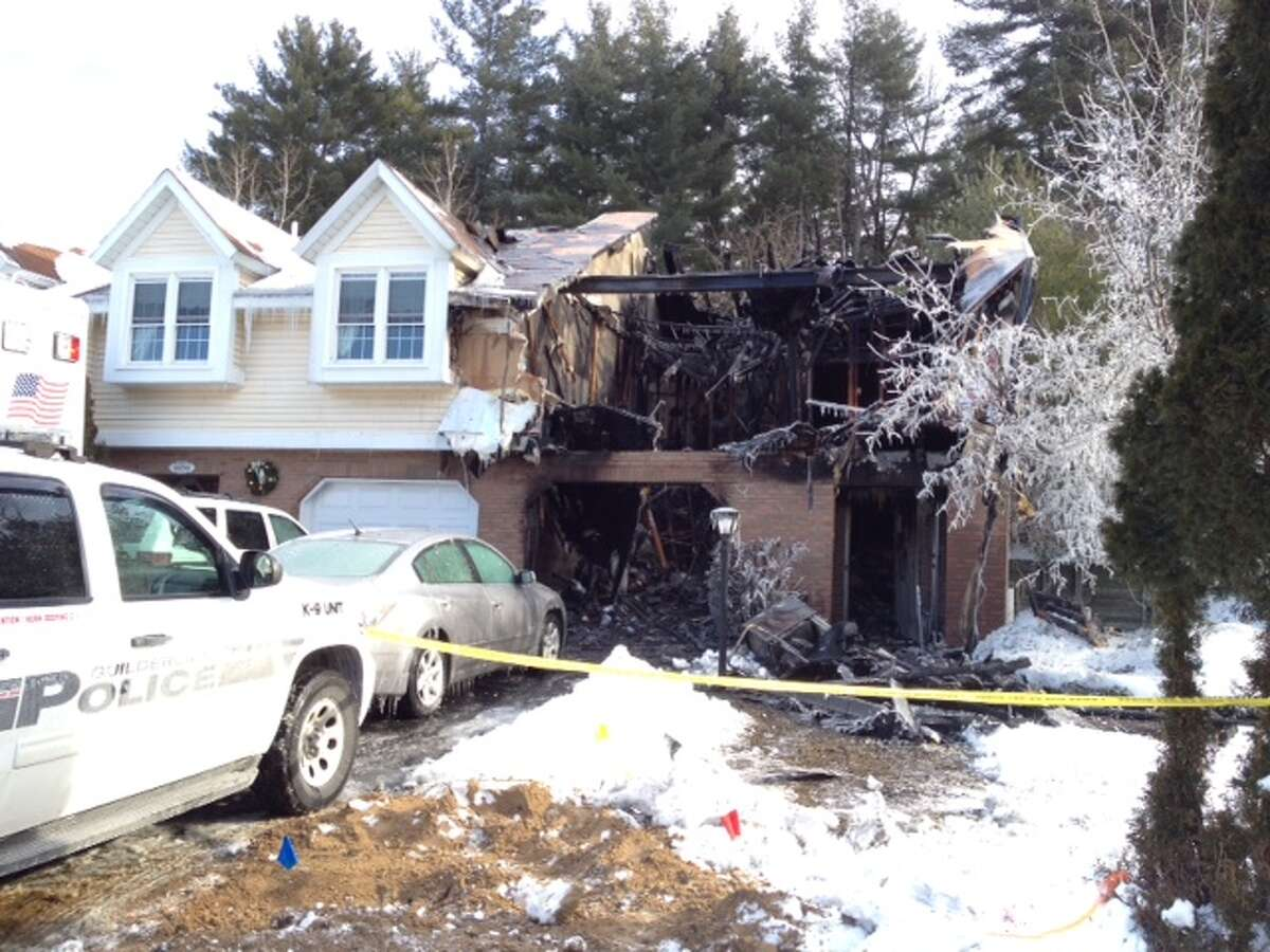 Scene of an overnight fire at 458 Chaucer Place, Tuesday morning Jan. 3, 2013, in Guilderland, N.Y. (Lori Van Buren/Times Union)