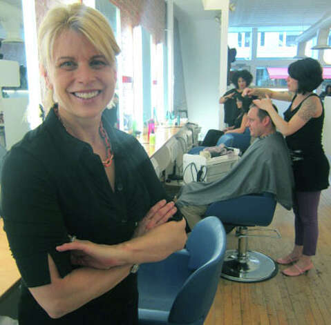 Karen Ross has shepherded the growth of Joe's Salon for 30 years along Bank Street in downtown New Milford. November 2012 Photo: Norm Cummings