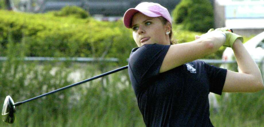 Mia Landegren of Shepaug Valley High School follows up her superb high school golf season by winning the state women's amateur title in August. Mia later signs to play collegiate golf with the NCAA champion University of Alabama women's team in 2013-14. Photo: Norm Cummings
