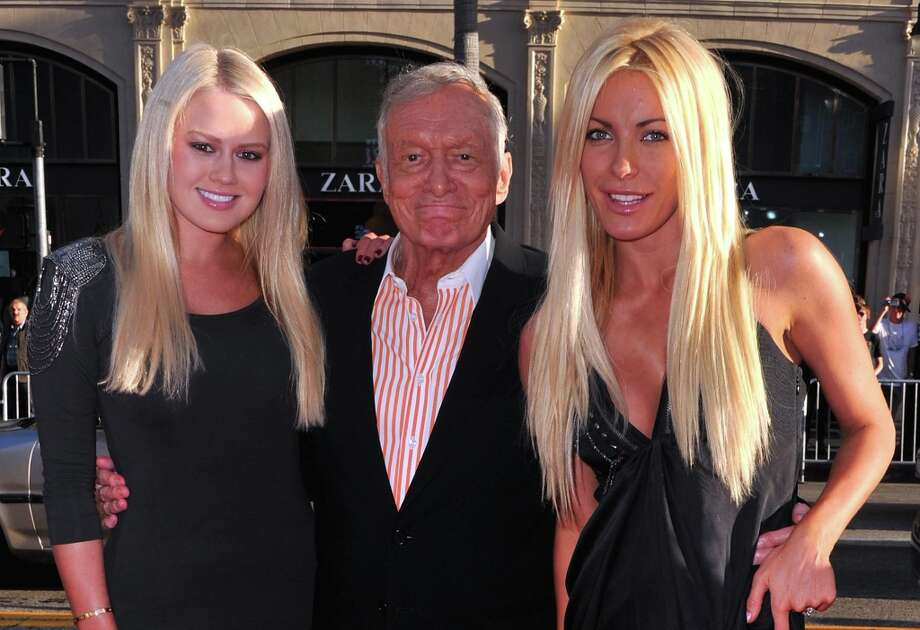 Before Hefner married Crystal Harris (R), he was supposedly keeping company with Playmate Anna Sophia Berglund (L), who's 26. This was after Harris had dumped the Playboy magnate in 2011.(2011 Getty Images) Photo: Alberto E. Rodriguez / 2011 Getty Images