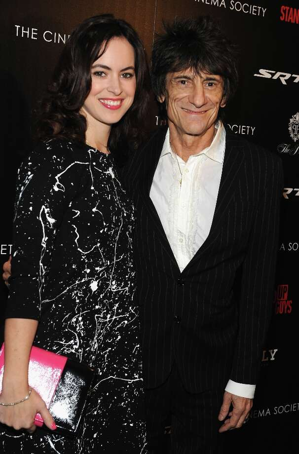 Rolling Stones rocker Ronnie Wood, 65, also married a young'un in December of 2012. Latest wife is 31-year-old Sally Humphreys. Photo: Fernando Leon, Getty Images / 2012 Getty Images