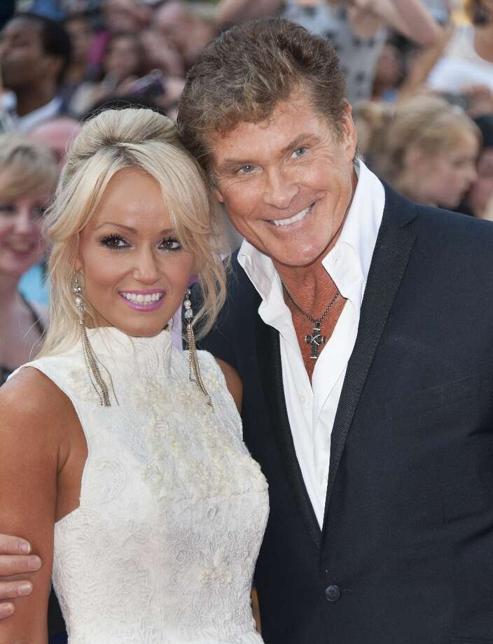 David Hasselhoff, 60, and girlfriend Hayley Roberts, 33. Photo: Mark Cuthbert, UK Press Via Getty Images / UK Press